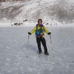 凍った御池