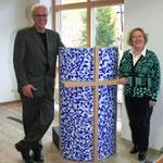 Arkitekt Kaare Sølvsten og glaskunstner Hanne Werner
