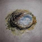 """""""Si apre il cielo"""" (2) acquerello su carta arches cm 30 x 30"""