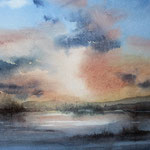 Ancora qualche nuvola capricciosa al tramonto cm 29 x 25