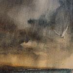 """""""Burrasca""""(2) acquerello su carta arches cm 29 x 20"""