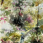 Fioritura nel Giardino Viatori cm 16 x 18