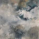 """""""Tramonto"""" (6) acquerello su carta arches cm 42 x 15"""