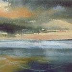 """""""Tramonto"""" (1) acquerello su carta arches cm 15 x 42"""