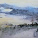 """""""Paesaggio Goriziano"""" acquerello su carta arches cm 40 x 50"""