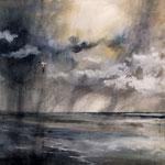 """""""Vento in laguna"""" (2) acquerello su carta arches cm 56 x 76"""