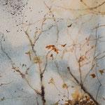 """""""Foglie"""" (2) acquerello su carta arches cm 17 x 12"""