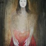 Margareta acrilico e olio su tela cm 80 x 100