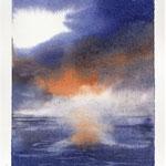 ... indifferenti allo spettacolo del sole che calava in mare tingendo di celata magia l'orizzonte.