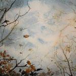 """""""Guardando verso il cielo"""" acquerello su carta arches cm 20 x 30"""