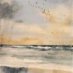 """""""Riflessi sull'acqua"""" acquerello su carta arches cm 42 x 15"""