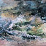 """""""Burrasca""""(2) acquerello su carta arches cm 29,7 x 42"""