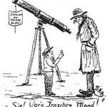 Karikatur von und über Bruno H. Bürgel