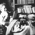 Eine Rast in seiner Bibliothek