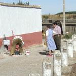 spanische Strassenmeisterei bei der Arbeit