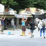 Street performance auf einem der vielen Plazas in Granada