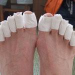 meine Füße nach rund 500 km