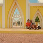 Pause an einem Aussichtspunkt, hoch über Bonaire