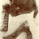 Pedro Meier Multimedia Artist – aus »Zyklus – Japanische Tuschpinselmalerei« Nr. 5 – entstanden im Dschungelkloster am Gulf of Siam 1998 – alle Tuschpinselmalereien später veröffentlicht in der Literaturzeitschrift »Drehpunkt« Basel – Foto © Pedro Meier