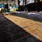 Pedro Meier Art – »Body Counting Nr. 08« – »Vor Jahren arbeiteten hier Menschen« – Performance / Installation – ArtCampus 2016 – Attisholz – Switzerland – Photo  © Pedro Meier – Swiss-German Multimedia Artist – Gerhard Meier-Weg Niederbipp, Bangkok, Olten