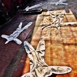 Pedro Meier Art – »Body Counting Nr. 21« – »Vor Jahren arbeiteten hier Menschen« – Performance / Installation – ArtCampus 2016 – Attisholz – Switzerland – Photo  © Pedro Meier – Swiss-German Multimedia Artist – Gerhard Meier-Weg Niederbipp, Bangkok, Olten