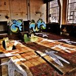 Pedro Meier Art – »Body Counting Nr. 20« – »Vor Jahren arbeiteten hier Menschen« – Performance / Installation – ArtCampus 2016 – Attisholz – Switzerland – Photo  © Pedro Meier – Swiss-German Multimedia Artist – Gerhard Meier-Weg Niederbipp, Bangkok, Olten