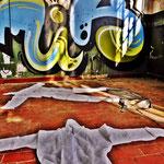 Pedro Meier Art – »Body Counting Nr. 26« – »Vor Jahren arbeiteten hier Menschen« – Performance / Installation – ArtCampus 2016 – Attisholz – Switzerland – Photo  © Pedro Meier – Swiss-German Multimedia Artist – Gerhard Meier-Weg Niederbipp, Bangkok, Olten