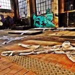 Pedro Meier Art – »Body Counting Nr. 14« – »Vor Jahren arbeiteten hier Menschen« – Performance / Installation – ArtCampus 2016 – Attisholz – Switzerland – Photo  © Pedro Meier – Swiss-German Multimedia Artist – Gerhard Meier-Weg Niederbipp, Bangkok, Olten