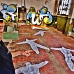 Pedro Meier Art – »Body Counting Nr. 10« – »Vor Jahren arbeiteten hier Menschen« – Performance / Installation – ArtCampus 2016 – Attisholz – Switzerland – Photo  © Pedro Meier – Swiss-German Multimedia Artist – Gerhard Meier-Weg Niederbipp, Bangkok, Olten