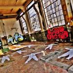 Pedro Meier Art – »Body Counting Nr. 05« – »Vor Jahren arbeiteten hier Menschen« – Performance / Installation – ArtCampus 2016 – Attisholz – Switzerland – Photo  © Pedro Meier – Swiss-German Multimedia Artist – Gerhard Meier-Weg Niederbipp, Bangkok, Olten