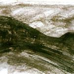 Pedro Meier Multimedia Artist – Zyklus von Federkiel-Zeichnungen (No. X) – Chinesische Sepia Tinte auf Papier – 30x21 cm – 1996 – Foto © Pedro Meier/ProLitteris