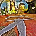 Pedro Meier Art – »Body Counting Nr. 09« – »Vor Jahren arbeiteten hier Menschen« – Performance / Installation – ArtCampus 2016 – Attisholz – Switzerland – Photo  © Pedro Meier – Swiss-German Multimedia Artist – Gerhard Meier-Weg Niederbipp, Bangkok, Olten