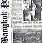 Pedro Meier - Bangkok Post, 14.8.1981, Roger Crutchley: Artist Pedro Meier wants his paintings back... A SWISS artist has offered a 10'000 baht reward... Mystery crime story about oil paintings! Photo © Pedro Meier in his studio Sukhumvit, Soi 13, Bangkok