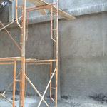外壁の仕上げ作業です。