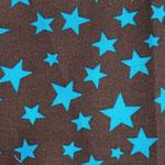 Ste11 - türkise Sterne auf dunkelbraun