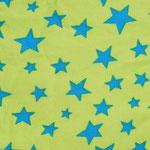 Ste05 - türkise Sterne auf limette