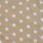 Ste10 - weiße Sterne auf beige