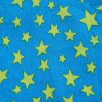 Ste09 - limettenfarbene Sterne auf türkis