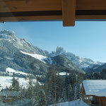 Panoramic window towards Bischofsmuetze peak