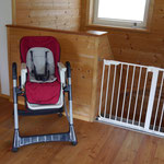 Baby chair and baby safety gate