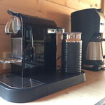 Coffee machine and Nespresso machine with milk foamer