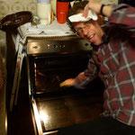 Kirchengemeinderat putzt Ofen