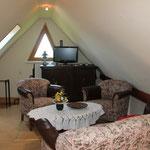 Wohn-/Schlafbereich im Dachboden