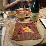 ボルディエバターを使ったブレッツカフェのガレット