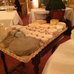 ディナー後に出てきたチーズ
