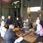 古民家の囲炉裏でお茶を頂いた 杉並区郷土博物館