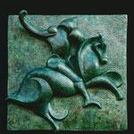 Bas relief Grès patiné L:50cm l:50cm 2002