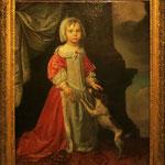Portrait d'une petite fille avec son chien, Jager J. de, 1660, huile sur toile/ JH