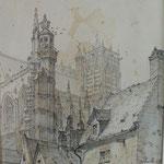 Collégiale Saint-Vulfran, vue de la rue des Jacobins,  © Musée d'Abbeville