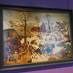 Le dénombrement de Bethléem, Bruegel Pieter l'Ancien, 1566, huile sur bois / Photo JH